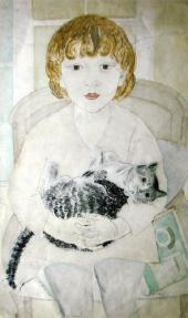 Alexandra BELCOVA. Tanya with a Cat. 1928