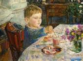 Arkady PLASTOV. My Grandson is Painting. 1959-1960