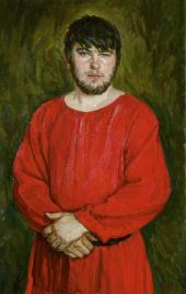 Nikolai PLASTOV. Portrait of the Son in the Medieval Shirt. 2011