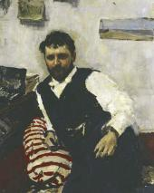 Valentin SEROV. Portrait of Konstantin Korovin. 1891