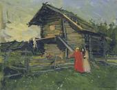 Konstantin KOROVIN. A Barn. 1900