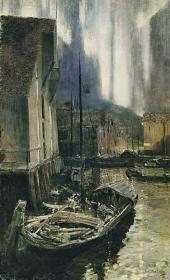 Konstantin KOROVIN. Hammerfest. The Nothern Lights. 1894-1895