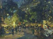 Konstantin KOROVIN. Paris. Boulevard des Capucines. 1902