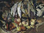 Konstantin KOROVIN. Fishes, Wine and Fruits. 1916