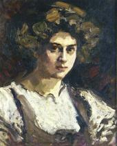 Portrait of Nadezhda Komarovskaya. 1909-1910