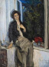 Portrait of Nadezhda Komarovskaya. 1914