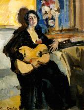 Lady with a Guitar. 1911