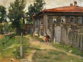 A Corner in the Provinces (A Street in Pereslavl). 1905