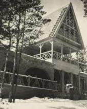Feodor Chaliapin's house in Ratukhino. Photo. 1900s