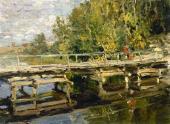 Autumn. On the Bridge. Early 1910s