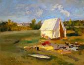 Morning. Hunting Tent. 1914