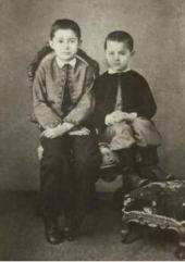 Brothers Sergei and (right) Konstantin Korovin in childhood