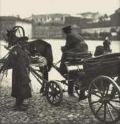 Moscow. A whip seller and coachman. Photo. Late 19th century