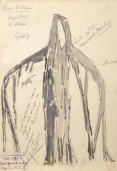 "Konstantin KOROVIN. Sketch of a costume for Ludwig Minkus' ballet ""Don Quixote""."