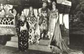 Main characters in costumes created for the production at the Casino Theatre