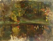 Konstantin KOROVIN. Landscape with a Little Pond