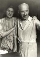 Ivan Kreitor with Anna Kreitor, his sister. 1947