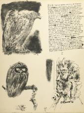 A page from the book Pablo Picasso. Poèmes et Lithographies. Paris, 1954