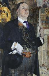 Portrait of David Burliuk. 1923