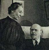 YEKATERINA AND MIKHAIL NESTEROV IN THEIR APARTMENT ON SIVTSEV VRAZHEK STREET.