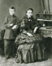 MIKHAIL NESTEROV AND HIS SISTER ALEXANDRA VASILYEVNA. Ufa. 1870