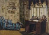 FATHER'S STUDY. The end of the 1870s.