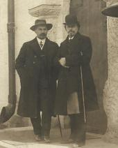 MIKHAIL NESTEROV AND ALEXEI SHCHUSEV IN THE MARFO-MARIINSKY CONVENT IN MOSCOW.