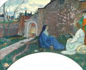 CHRIST VISITS MARTHA AND MARY DETAIL. 1918
