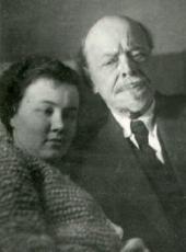 MIKHAIL NESTEROV AND IRINA SHRETER. Moscow, 1939
