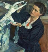 PORTRAIT OF VERA MUKHINA. 1940