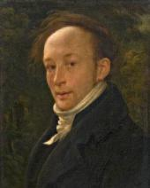 ALEXANDER VARNEK. SELF-PORTRAIT (BACKLIT). 1816