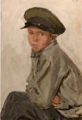 ARKADY PLASTOV. THE SCHOOLBOY VOVA FEOKTISTOV. 1959