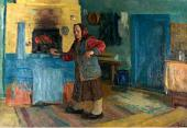 NIKOLAI DUBOVIK. A VILLAGE HOUSE. 1986