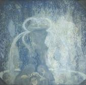 PAVEL KUZNETSOV. BLUE FOUNTAIN. 1905