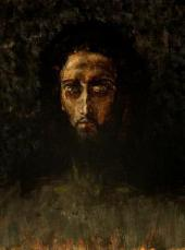 MIKHAIL VRUBEL. THE HEAD OF CHRIST. 1888