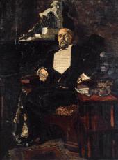 MIKHAIL VRUBEL. PORTRAIT OF SAVVA MAMONTOV. 1897