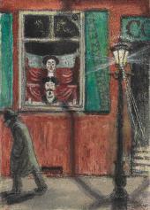 MSTISLAV DOBUZHINSKY. BARBERSHOP WINDOW. 1906