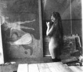MODEL IN MUNCH'S STUDIO IN BERLIN. 1902