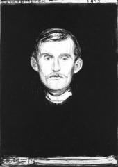 SELF-PORTRAIT WITH A SKELETON ARM. 1895