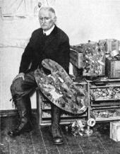 MUNCH IN HIS STUDIO. C. 1930. The Munch Museum