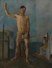 LUKOMSKY. STANDING MAN. 1920s.