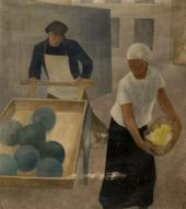 YEVGENIA BLAGOVESHCHENSKAYA (1899-1973). A SELLER OF WATER MELONS (A STREET). 19
