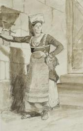ITALIAN WOMAN FROM SANINO. LATE 1820S. THE ITALIAN ALBUM