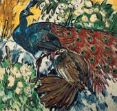 Mikhail LARIONOV. Peacocks. 1908–1909