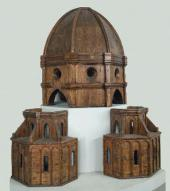 FILIPPO BRUNELLESCHI (1377-1446). WOODEN MODEL OF THE DOME OF FLORENCE CATHEDRAL