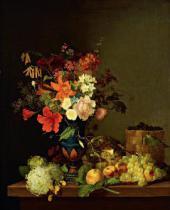 Foma TOROPOV. Still-life. Flowers and Fruits. 1846