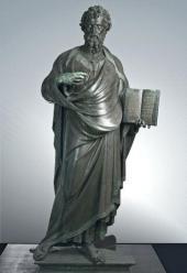 LORENZO GHIBERTI (1378 OR 1381-1455). ST. MATTHEW. 1419-1422