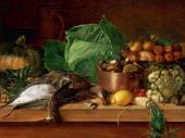 Ivan KHRUTSKY. Dead Game, Vegetables and Mushrooms. 1854