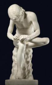 BOY WITH THORN. 1ST CENTURY BC