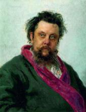 Ilya REPIN. Portrait of Modest Mussorgsky. 1881